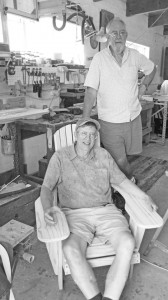 Bill and John enjoy their new Adirondack Chair