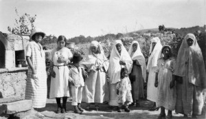 Grandmother Ruby Jackson with the family of the Mukhtar (Mayor) of Tera, 1924