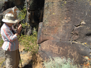 Sylvia at Petroglyph Cliffs