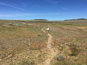 Sylvia Walks through Rattlesnake Draw